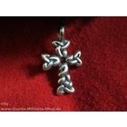 Anderswelt Import Pewter Pendant braided cross
