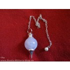 Anderswelt Import Pendulum silvers with rose quartz ball