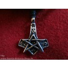 Anderswelt Import Pewter Pendant Pentagramm with Thors hammer