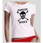 Guntia Militaria Damen T-Shirt Danger Mines