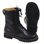 MFH Combat Boots, grain leather, leather lining, black