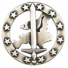 MFH BW toque badge, Eurocorps, metal