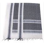 MFH Shemagh (Scarf), black-white, fringed
