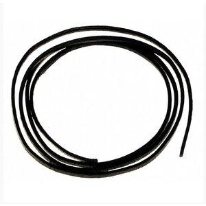 MFH leather strap, black
