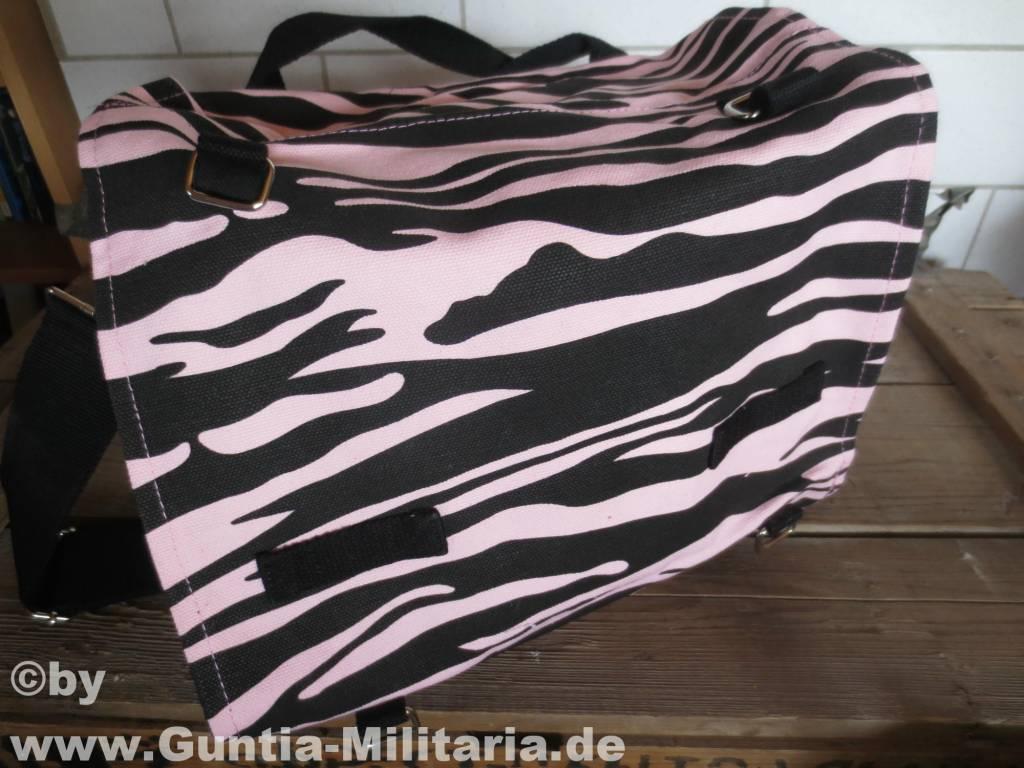 bw kampftasche gro zebra look schwarz pink guntia. Black Bedroom Furniture Sets. Home Design Ideas