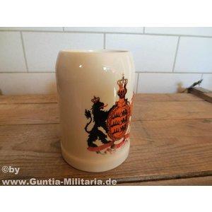 Guntia Militaria Bierkrug Württemberg 0,5 L m. Defekt