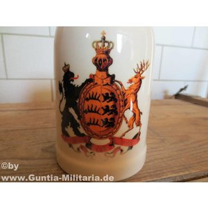 Guntia Militaria beer mug Württemberg