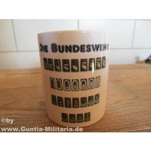 Guntia Militaria Tasse Dienstgrade Bundeswehr m. defekt