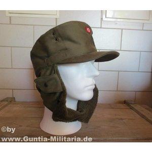 Original Militär Österreichische Wintermütze, oliv, gebraucht