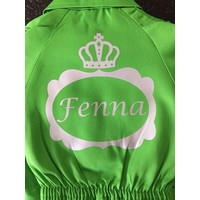 Customise your coverall with a name in a crown frame