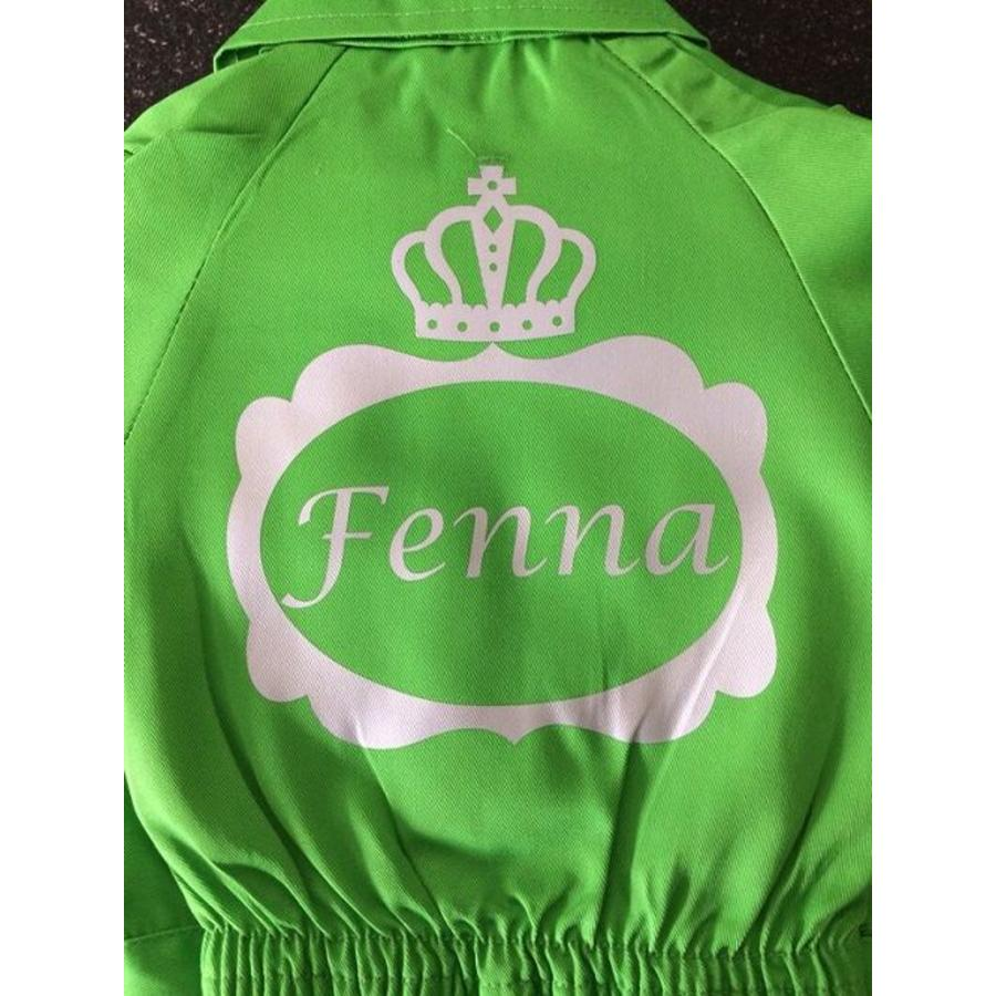 Customise your coverall with a name in a crown frame-1