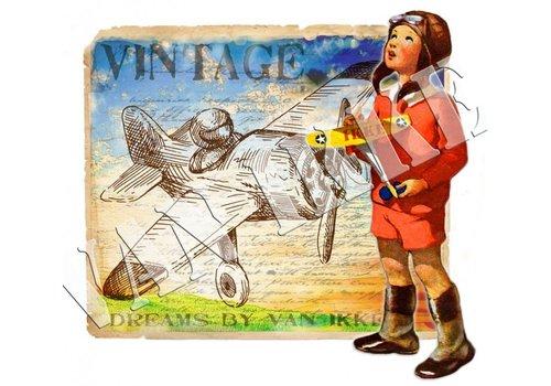 Vanikke Iron-on transfer aviator for overalls