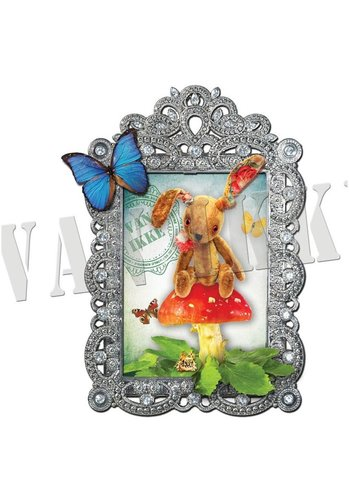 Vanikke Iron-on transfer toy rabbit for coverall
