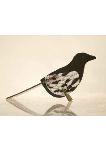 Studio Roof Pop-out postcard magpie