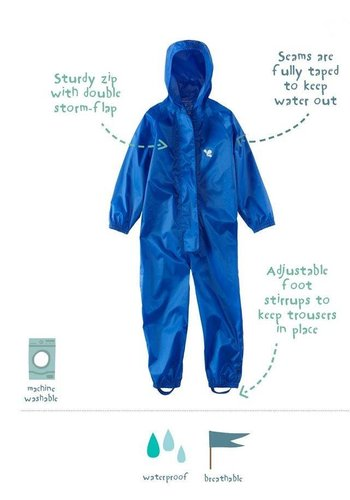 Waterproof overalls, waterproof boiler suit - blue