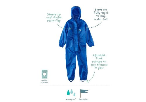 MP buitenkleding Waterproof overalls, waterproof boiler suit - blue