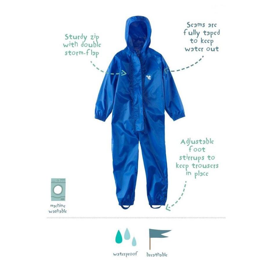 Waterproof coveralls, rain boiler suit - blue-1