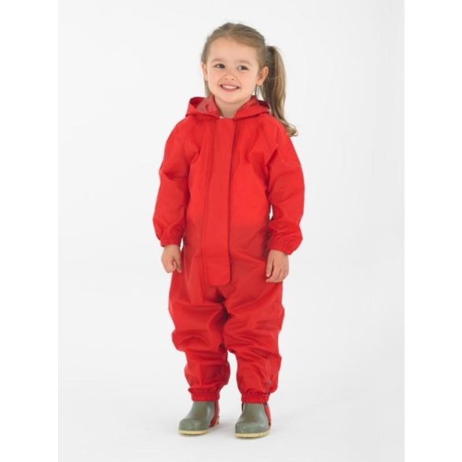 Waterproof coveralls, rain boiler suit - red-2