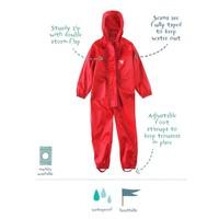 thumb-Waterproof coveralls, rain boiler suit - red-1