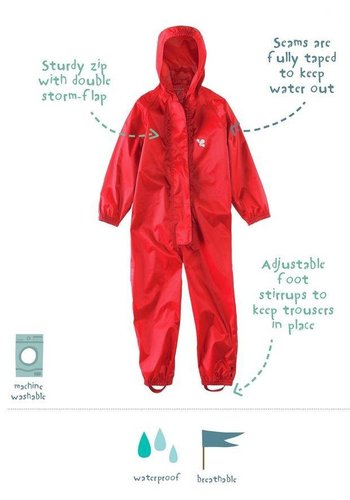 Waterproof overalls, waterproof boiler suit - red