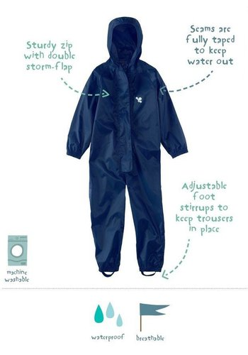 Waterproof overalls, waterproof boiler suit - navy blue