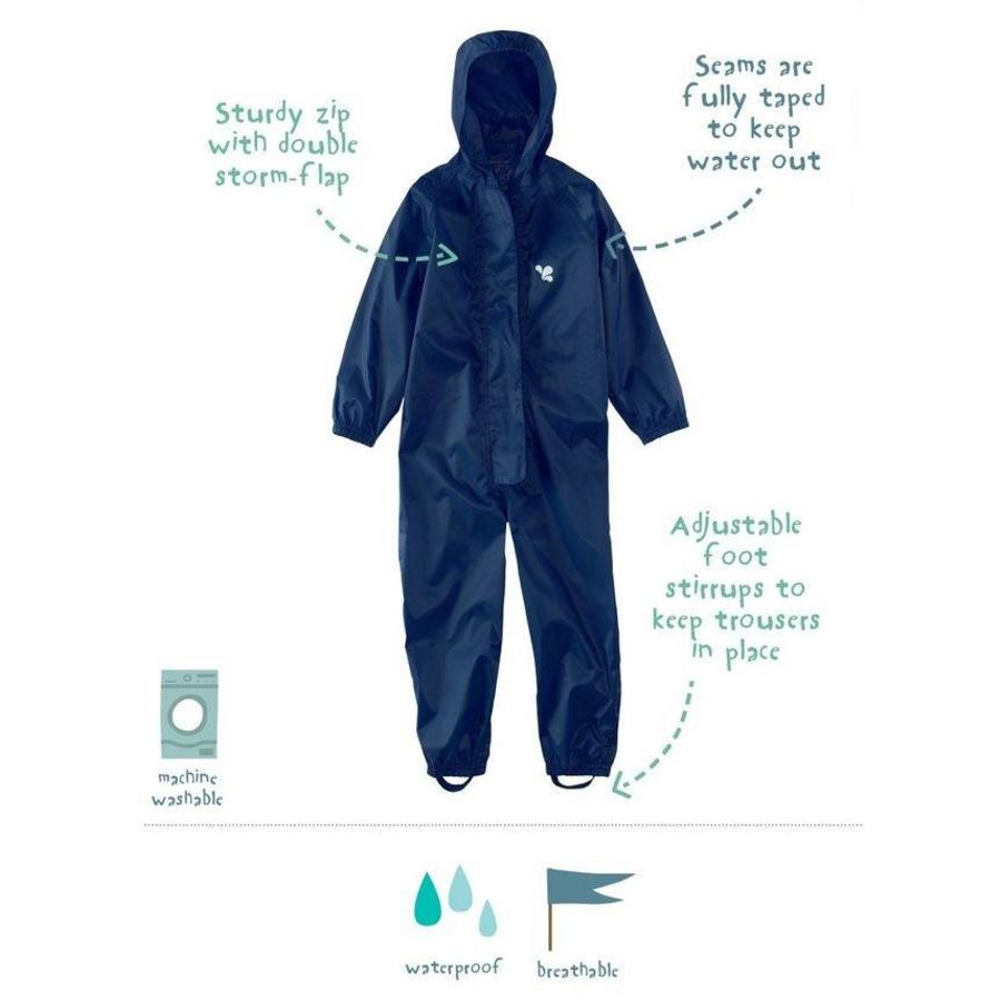 Waterproof coveralls, rain boiler suit - navy blue