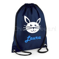 thumb-Gym bag with name and rabbit from the farm theme-1