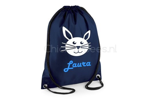 Gym bag with name and rabbit from the farm theme