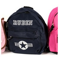 thumb-Backpack with name print and stars & stripes-3