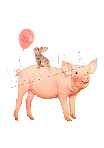 Vanikke Iron-on transfer party pig