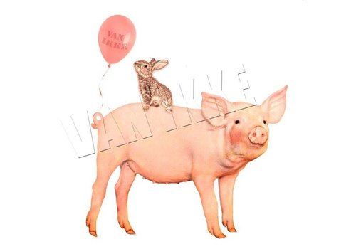 Vanikke Iron-on transfer party pig for coveralls
