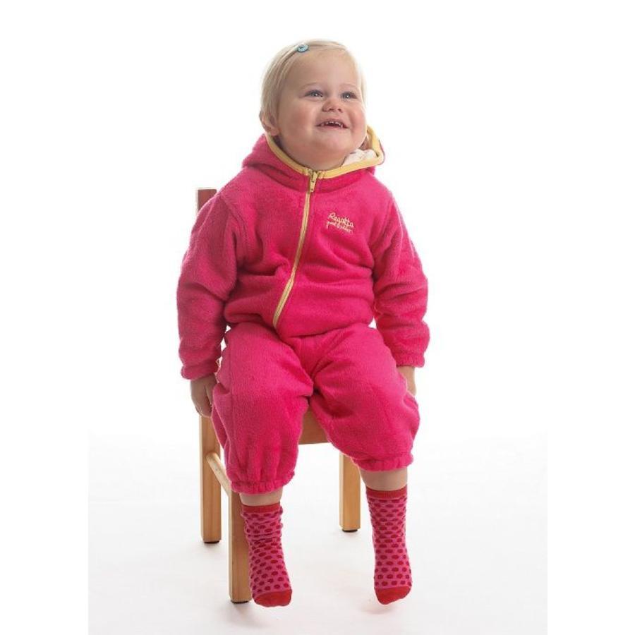 High-pile fleece suit Hugs, roze