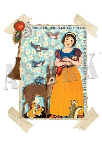 Vanikke Iron-on transfer Snow White for coveralls