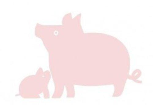 Vanikke Velours iron-on transfer pig for coverall or t-shirt