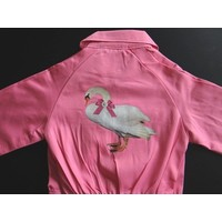 thumb-Iron-on transfer swan for coveralls-2