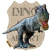 Applicatie Dino Alert voor overall of t-shirt