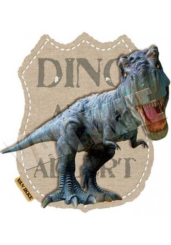 Vanikke Iron-on transfer Dino alert for coverall or t-shirt