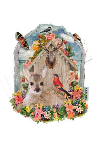 Vanikke Iron-on transfer deer for coverall or t-shirt
