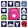 Beautiful backpack with name print and farm theme