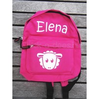 thumb-Beautiful backpack with name print and farm theme-2