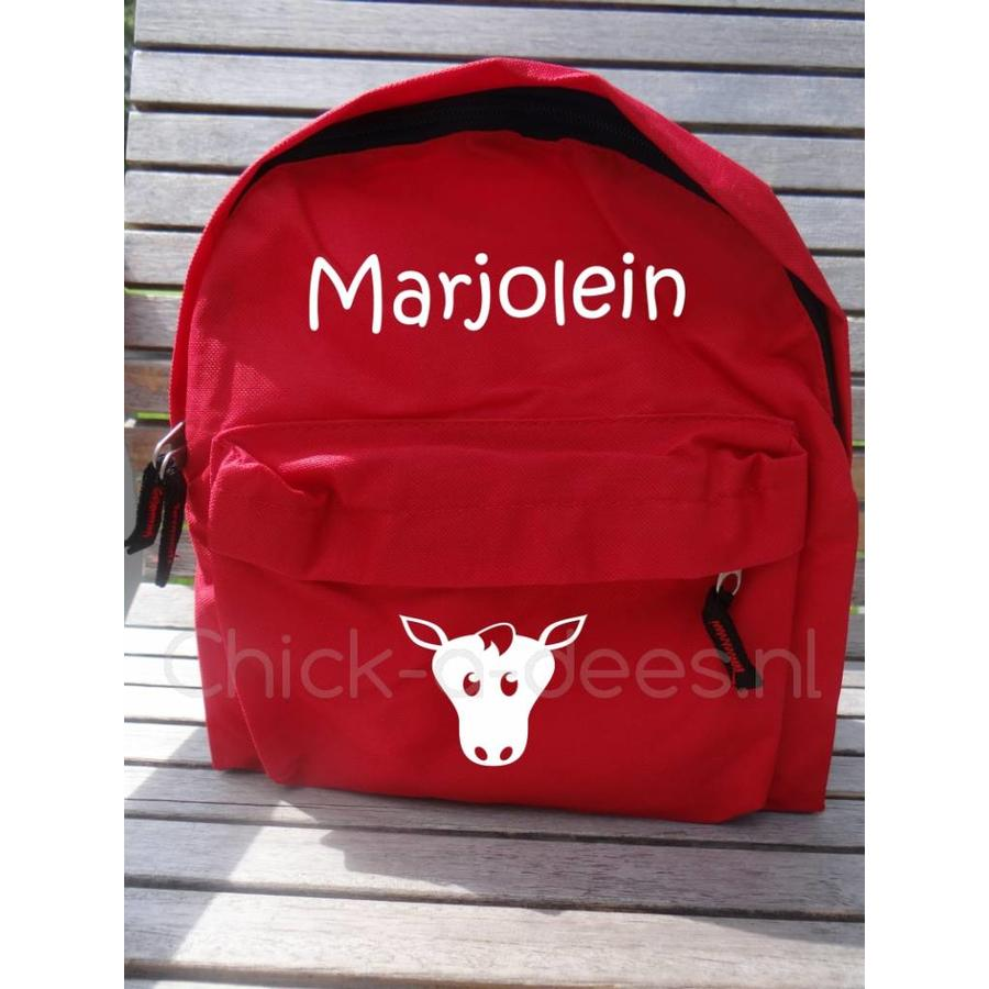 Beautiful backpack with name print and farm theme-3