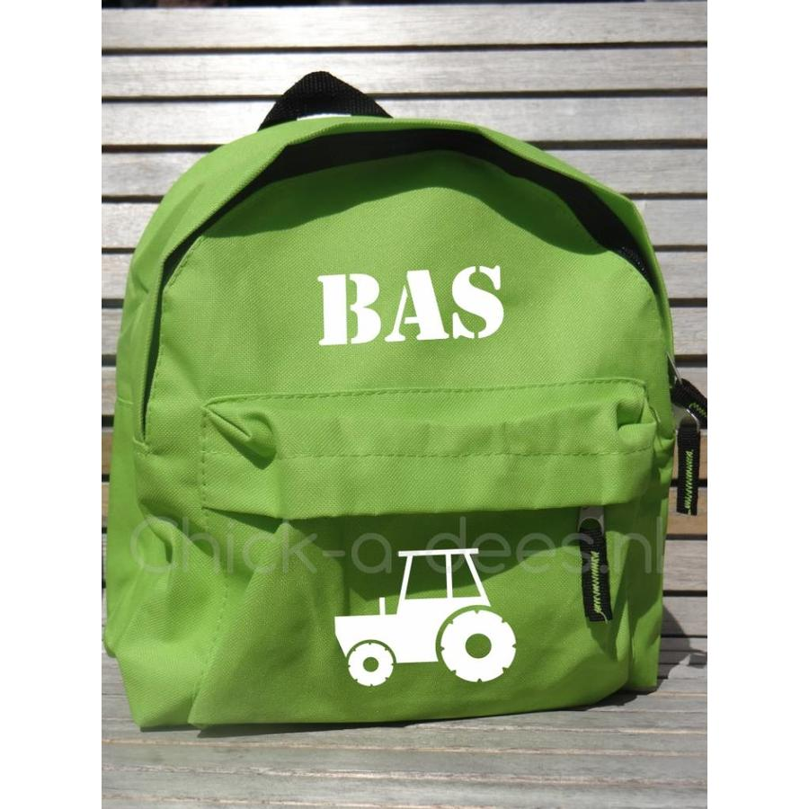 Beautiful backpack with name print and farm theme-4