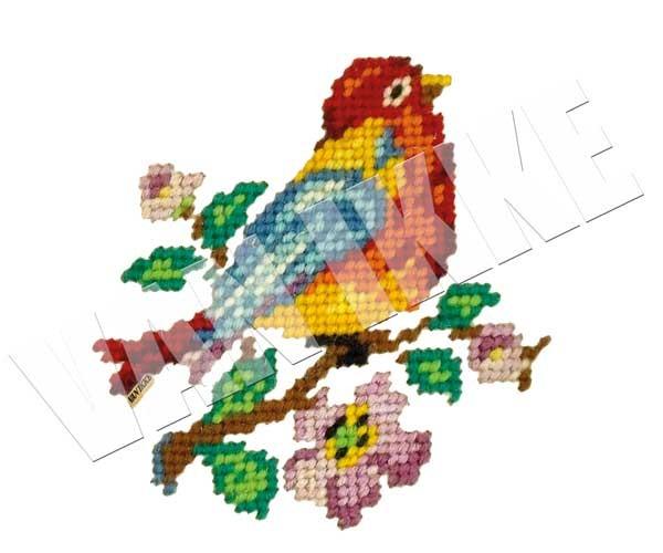 Geborduurd vogeltje