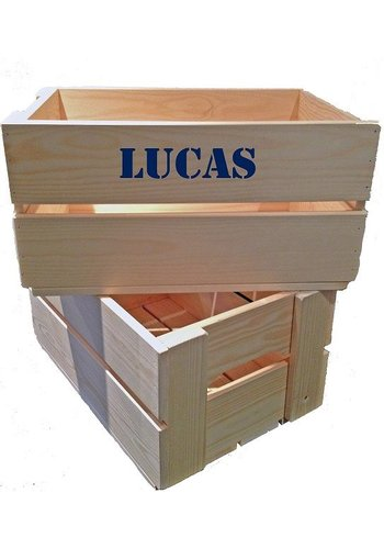 Toy crate, chest with name