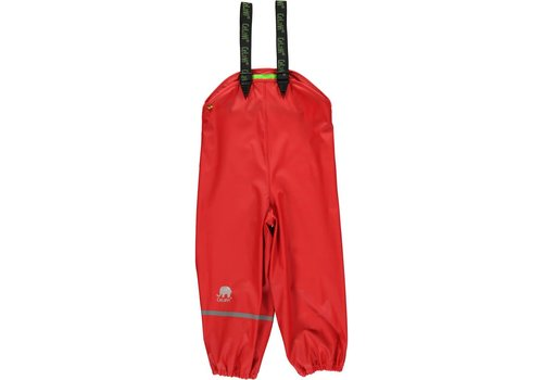 CeLaVi Red rain pants, waterproof dungarees