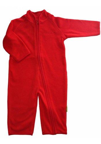 CeLaVi Fleece pak onesie, jumpsuit rood| 68-104