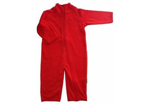 CeLaVi Fleece suit onesie, red jumpsuit