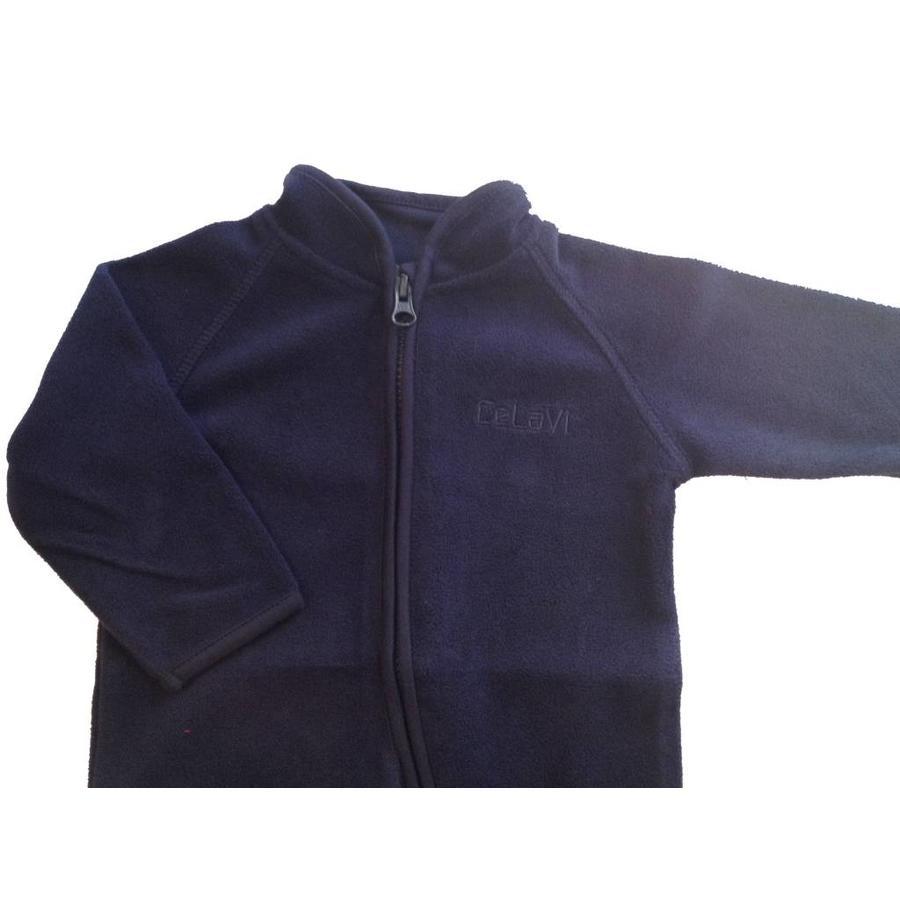 Fleece pak, overall in navy blauw  68-104-4