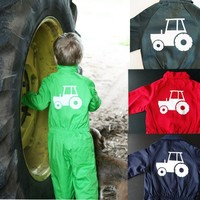 Customise your overall with the picture of a tractor