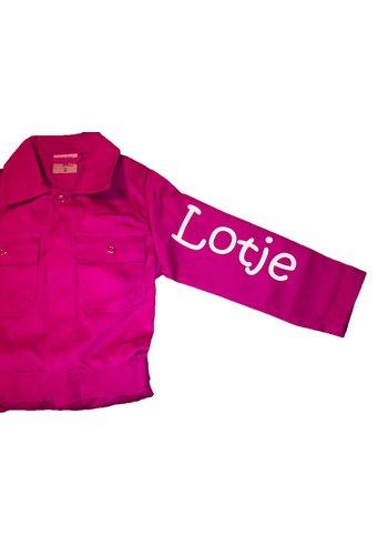 Naam bedrukking overalls